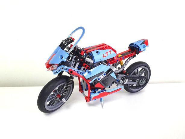 LEGO TECHNIC Motocykl 42036 niebieski Motor Ścigacz Chopper Miejski