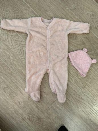 Комбинезон флисовый детский 0-3 месяца