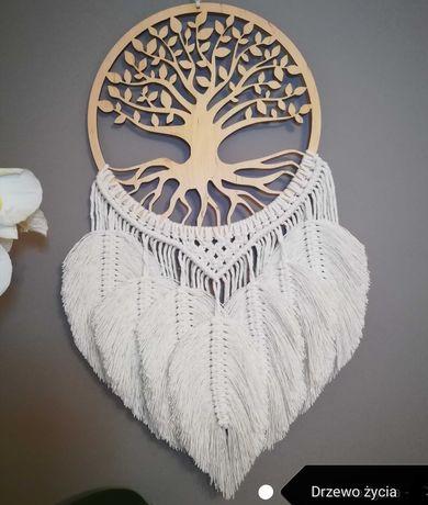 Łapacz snów drzewo życia makrama