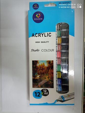 Краски акриловые 12 штук