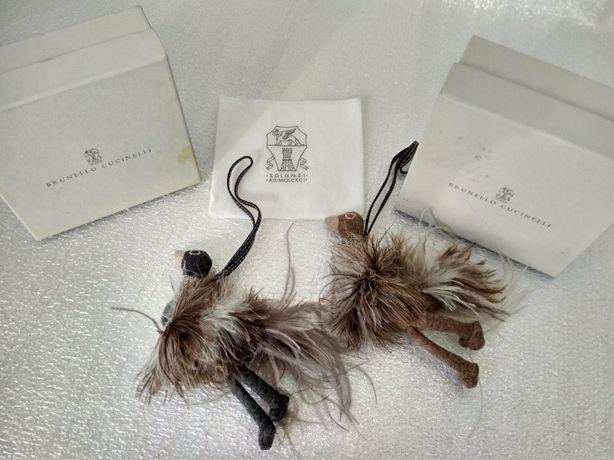 Брелоки -страус кашемир маниль перья боа Brunello Cucinelli  Италия ор