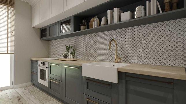 Kuchnia na wymiar , meble kuchenne , drewniane, lakierowane projekt