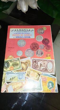 Caderneta rara Dinheiro historia das m. e n. do b. de Angola e Brasil