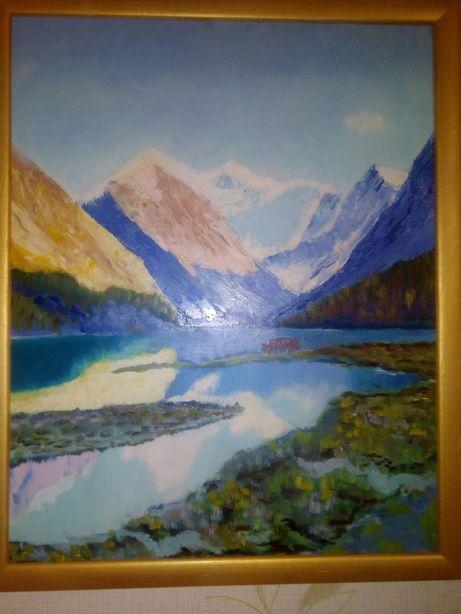 Картина горный пейзаж маслом