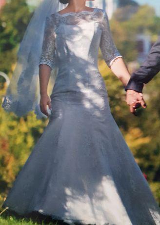 Свадебное платье, рыбка. Итальянское кружево