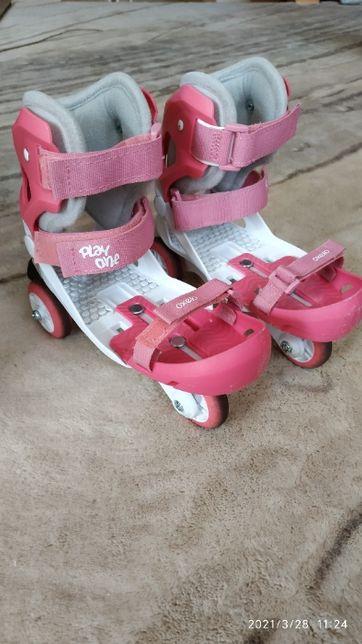 Wrotki nakładane na buty w regulowanym rozmiarze 28-30.