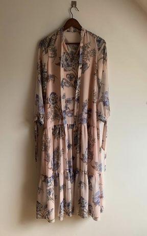Le collet lecollet sukienka maxi XS pudrowy róż