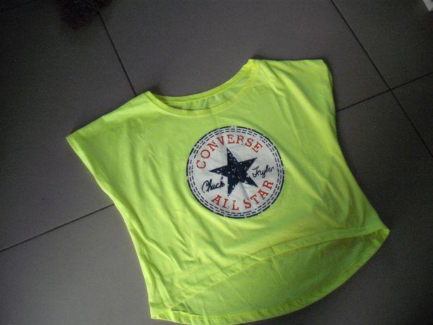 Converse koszulka neonowa