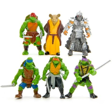 Tartarugas NINJA - 6 figuras novas para brincar -