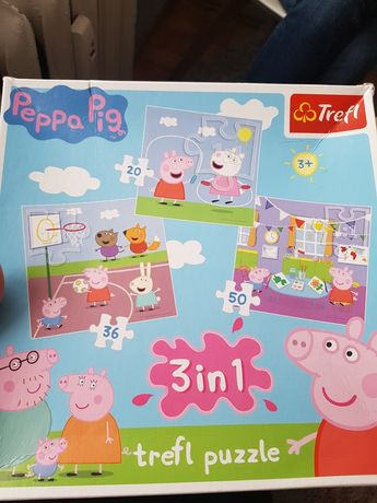 Puzzle świnka peppa Trefl 3in1