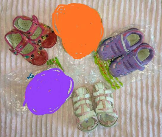 Пакет обуви для девочки по ст. 14,5-16,5см, можно частями, цена за все