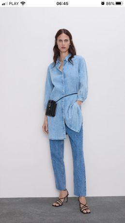 Sukienka długa koszula jeansowa ZARA rozmiar L