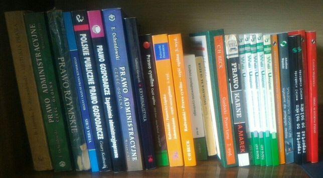 Książki, kodeks - prawo karne, cywilne, administracja, kryminalistyka