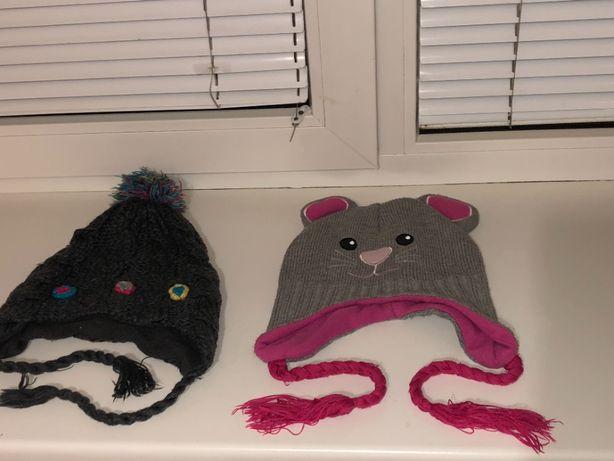 Шапки зимові для дівчинки 6-11 років Шапка-мишка
