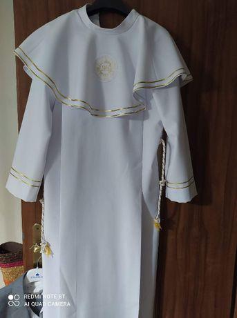 Alba komunijna + Garnitur + biała koszula r. 146 dla chłopca.