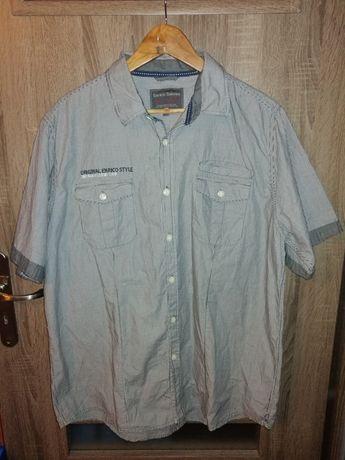 Koszula męska w paski Enrico Santini rozmiar 44/XXL. Stan idealny
