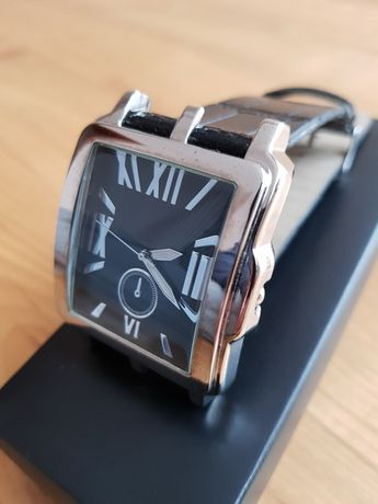 Męski zegarek, czarny, elegancki do garnituru !!