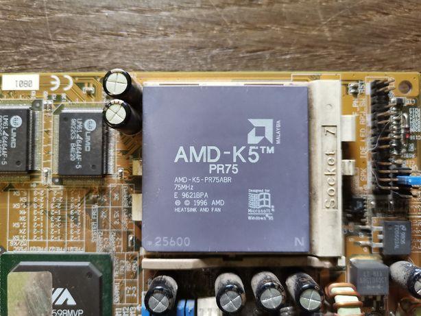 Procesor AMD AMD-k5 75MHz + płyta VA 503+ + dwie kości pamięci 2x64MB