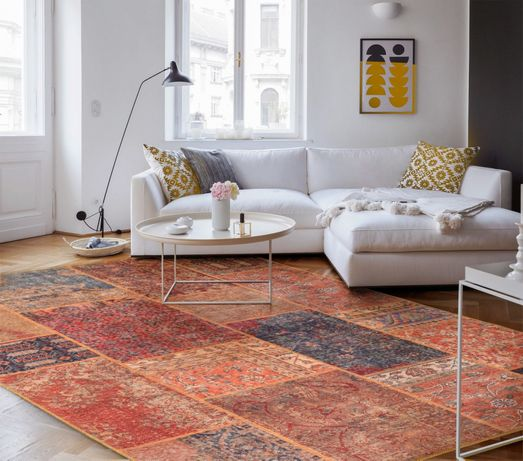 NOVO : Tapete / Carpete Design Patchwork - 140x190cm By Arcoazul