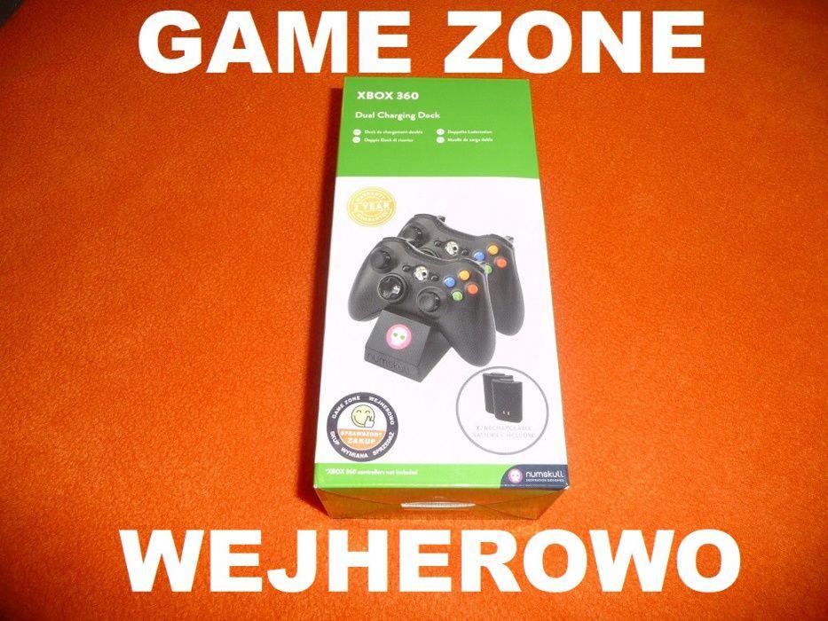Stacja ładowania + 2 aku Xbox 360 + Slim + E Play & Charge = Wejherowo