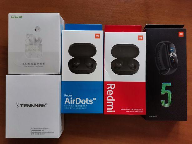 Xiaomi Mi Band 4,Mi Band 5,Redmi AirDots 2,S, QCY T8,Xiaomi Powerbank