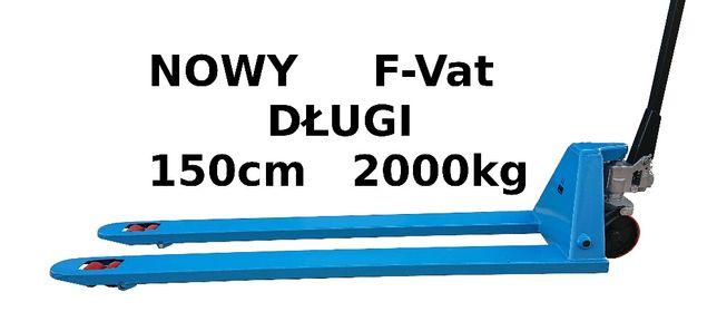 Wózek ręczny paletowy PALECIAK WIDLAK 1.5m 150cm 1500mm DŁUGI NOWY!!!