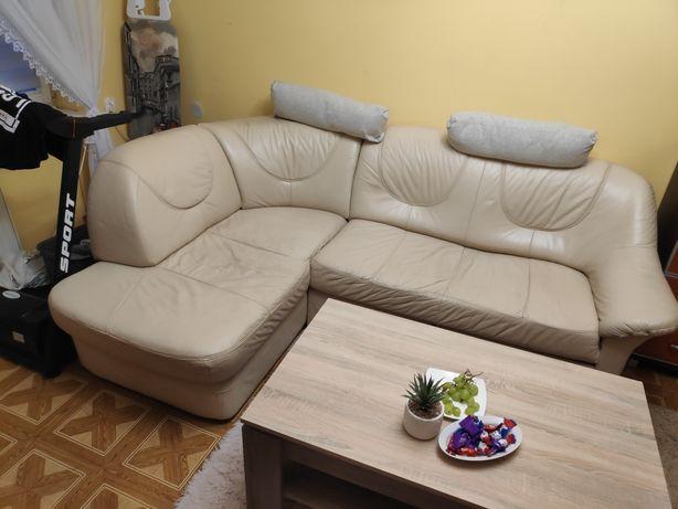 Sofa rogówka narożnik skórzany 160x240 cm
