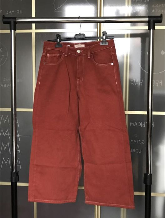 Красные джинсовые кюлоты Малехов - изображение 1