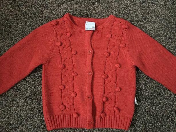Sweterek coccodrillo czerwony rozm 80