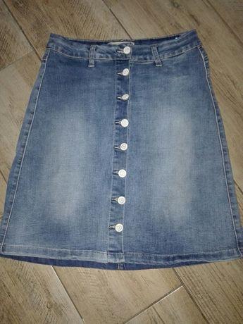 Spódniczka jeansowa dżinsowa Denim elastyczna S,M guziki