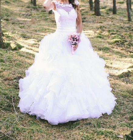 Sukienka ślubna!!! +dodatki welon i halka
