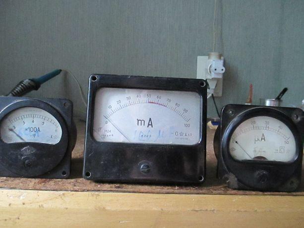 Амперметр 60А , 100мкА, 50мкА