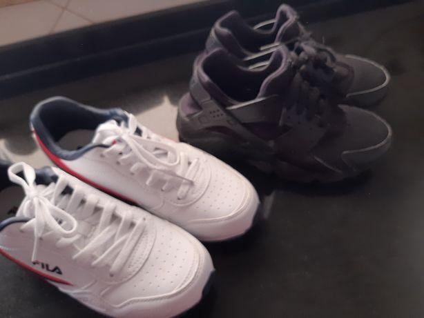 Conjunto tenis como novos Nike Urage e Fila nr 38