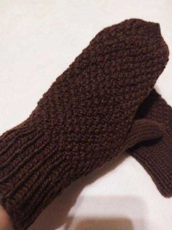 Варежки рукавицы коричневые рукавички новые Hand Made Hand Made