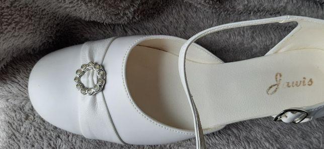Buty komunijne białe 37
