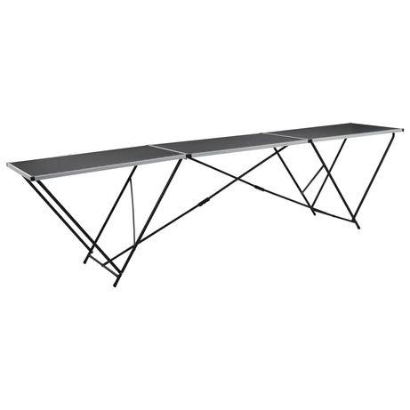 vidaXL Mesa/bancada de trabalho dobrável MDF e alumínio 300x60x78 cm 140718