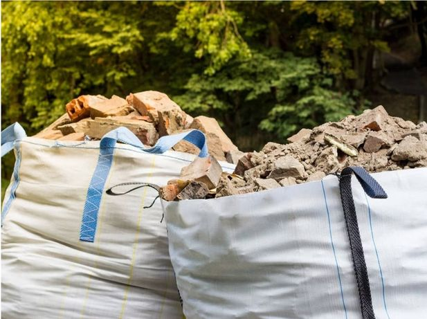 wywóz. gruz smieci kontener rozbiórki wyburzenia scian kucie kafli