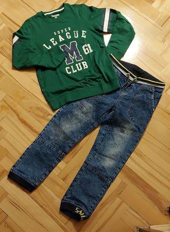 Sprzedam jeansy z koszulką