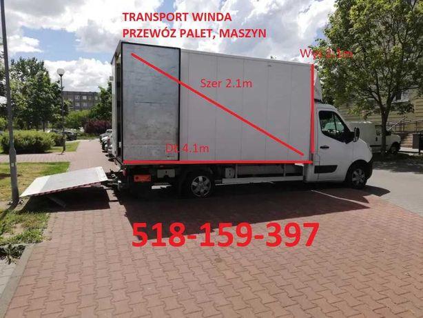 Transport winda , Transport palet, Przeprowadzki Transport Poznań