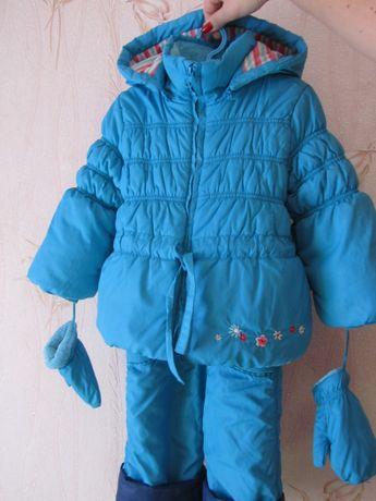 Зимний комбинезон + куртка для девочки Mariquita. На рост 80-100 см