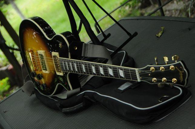 Gitara elektryczna Les Paul-Johnson,EMG-humbuckery,piękna+futerał+pase