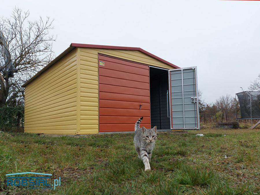 Garaż blaszany z profili ocynkowanych blaszak 4x6 Blacha kolor