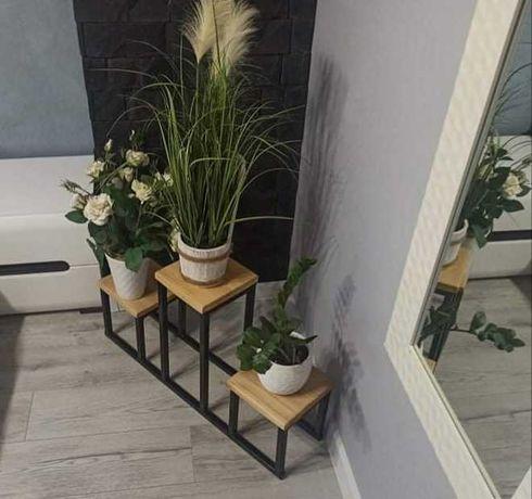 nowoczesny kwietnik w stylu loft stojak na kwiaty kwietnik kwietniki