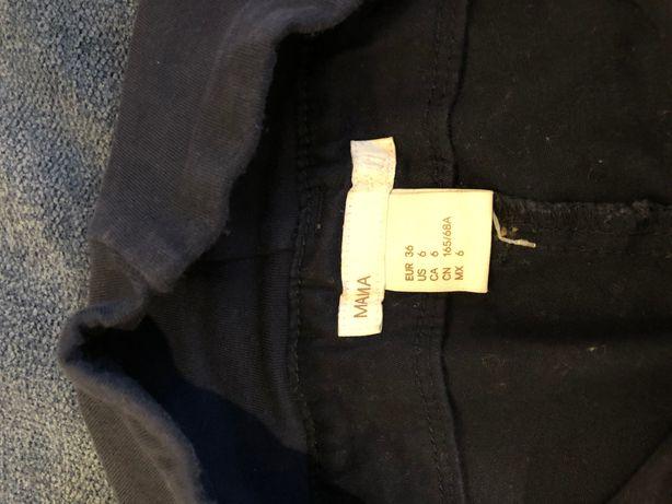 Spodnie ciążowe (chinosy) r. 36 granatowe H&M
