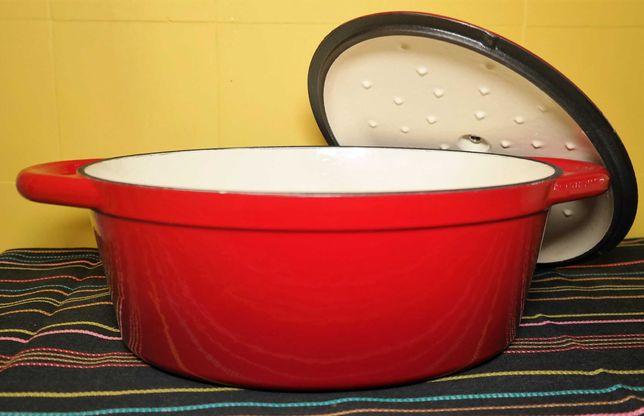 Assadeira Panela Caçarola em ferro fundido 4 litros