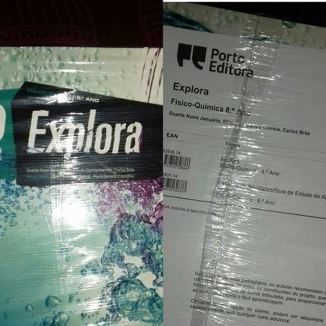 Manual+caderno de Físico-Química 8° ano NOVOS. Portes incluídos.