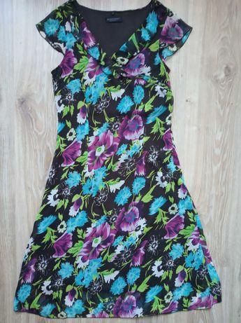 Blind Date sukienka 36 czekolada kwiaty długa 8