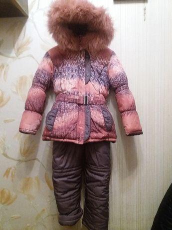 Зимняя куртка с комбинезоном Кузя
