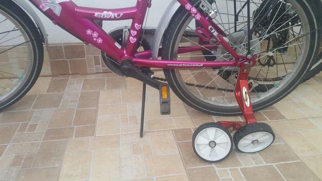 Ładny Rower 20 cali rowerek dla dziewczynki boczne kółka