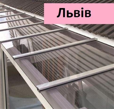 Полікарбонат монолітний 2-15мм - прозорий пластик на дашки , тераси